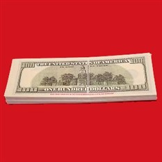 Забавная пачка денег «100 долларов»