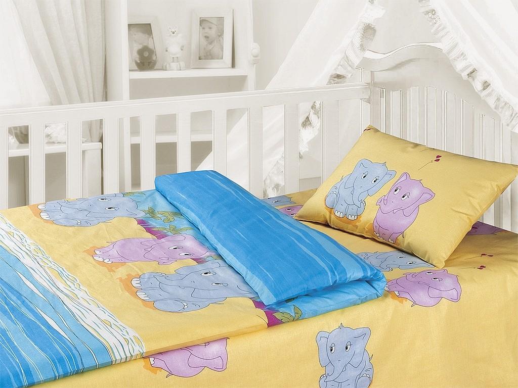 Комплект постельного белья Слоники (ясельный)