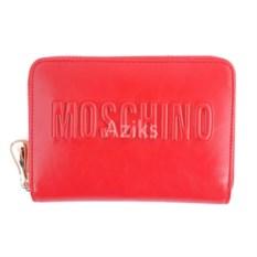 Красный женский кошелек Moschino