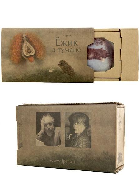 Туалетная коробочка из фарфора Ежик