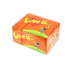 Блок жвачек Love is Апельсин-Ананас