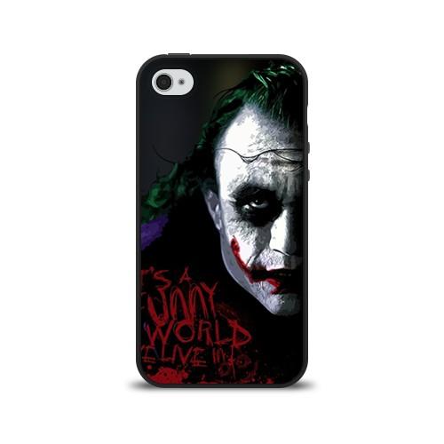 Силиконовый чехол для Apple iPhone 4S Джокер
