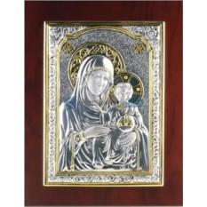 Икона Божией Матери с позолотой