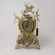 Бронзовые каминные часы Каранка