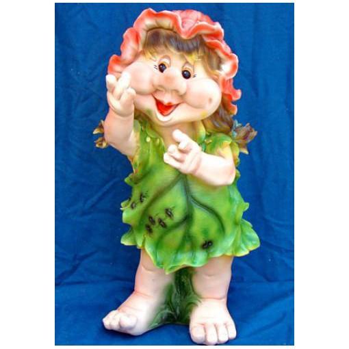 Фигура садовая «Гном-девочка»