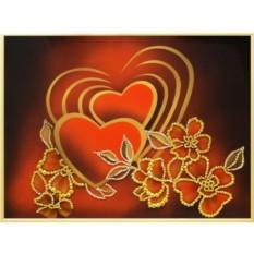 Картина с кристаллами Swarovski Рассвет любви
