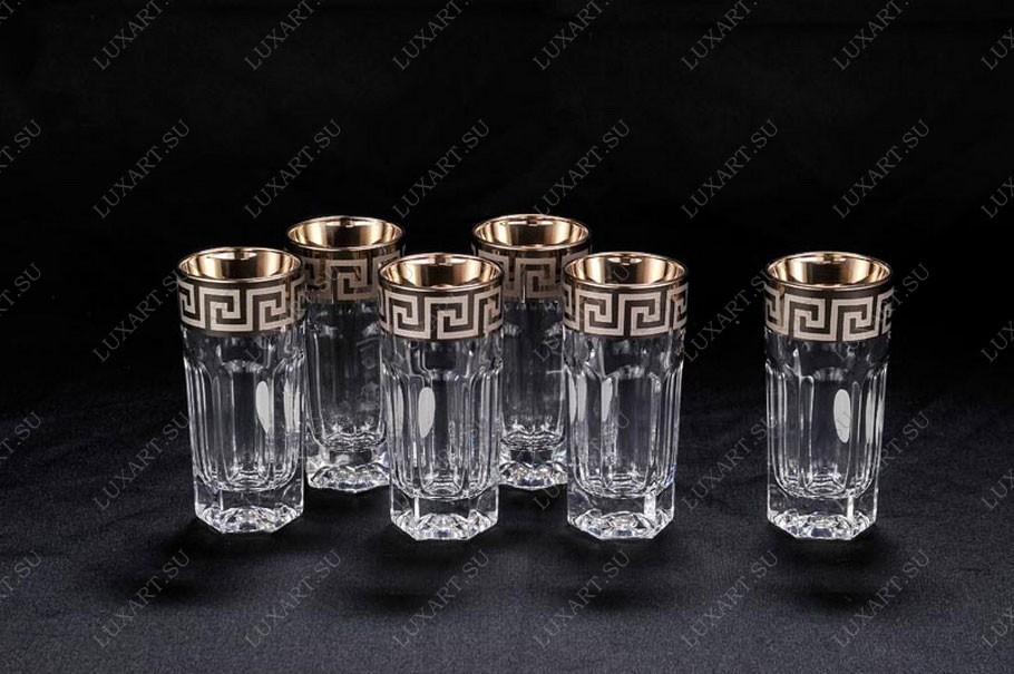 Набор из 6 хрустальных стопок для водки