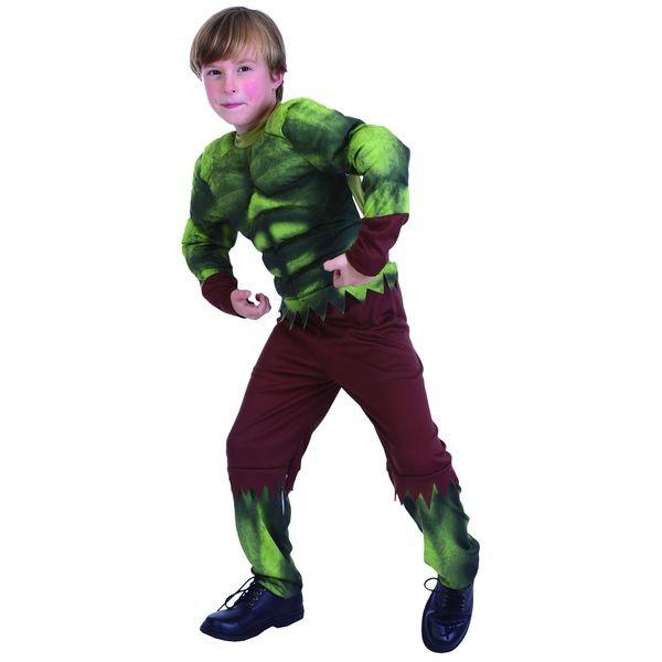 Детский карнавальный костюм бойца с мускулатурой