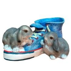 Кашпо Кед с зайцами