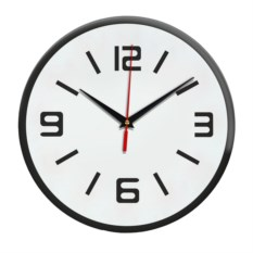 Настенные часы с темным ободом