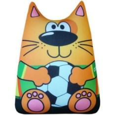 Игрушка-подушка антистресс Кот футболист (цвет: оранжевый)