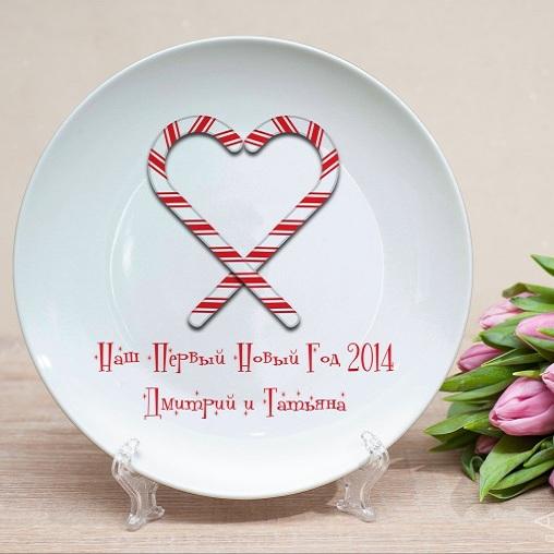 Именная тарелка Новогодние сладости