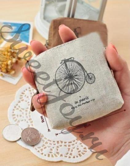 Кошелек для монет In Paris Flax (Велосипед (белый))