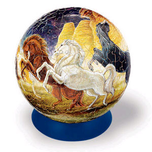 Шаровый пазл «Лошади»