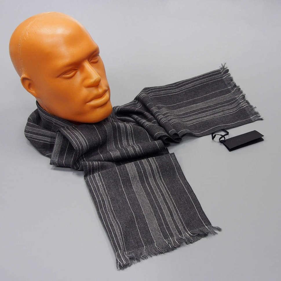 Полосатый утепленный мужской шарф Calvin Klein