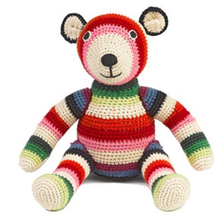Игрушка вязаная Bear Multi Stripe
