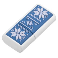 Синия флешка Скандик (8 Гб, индиго)