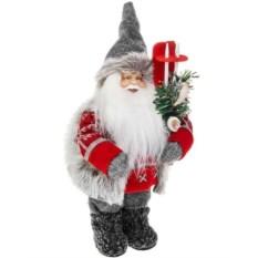 Новогоднее украшение Дед Мороз с лыжами и елочкой