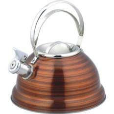 Коричневый металлический чайник на 2,5 л DeLuxe Bekker