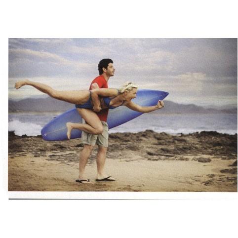 Открытка «Сёрфинг вдвоём»