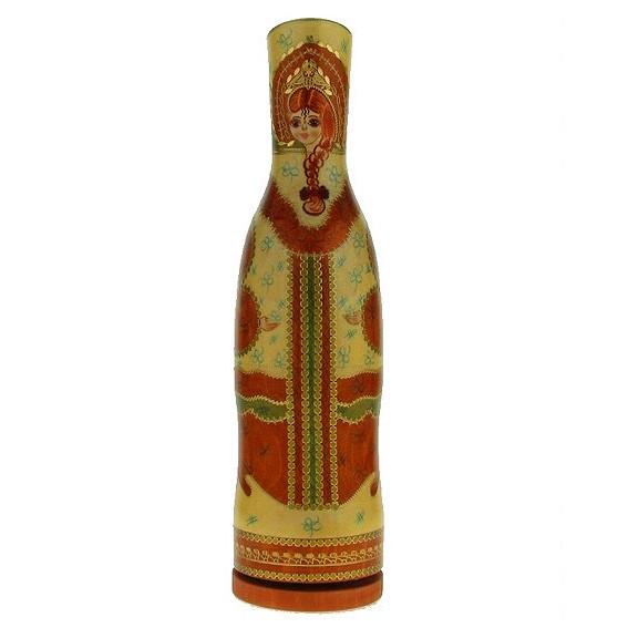 Музыкальная матрёшка-штоф «Русская красавица»