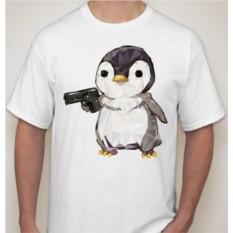 Футболка Пингвин с пистолетом