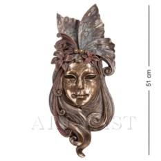Большая венецианская маска Лилия (цвет: бронзовый)