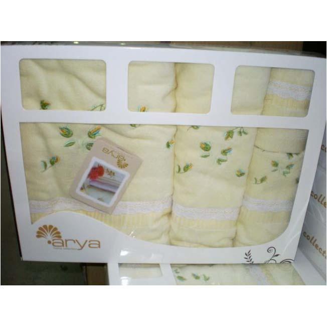Набор полотенец с вышивкой LIMOS BEIGE