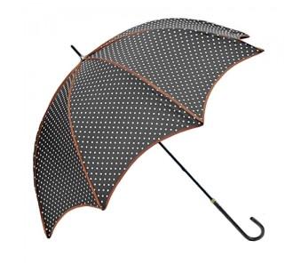 Чёрный зонт Кокетка
