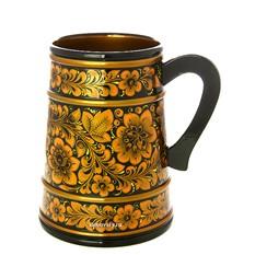 Кружка с Хохломской росписью Золотая кудрина