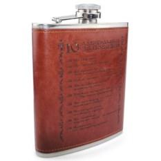Подарочная фляга 10 алкогольных заповедей