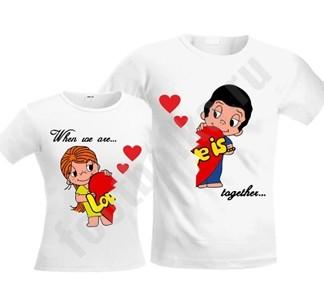 563059dcb7953 Парные футболки-стрейч для двоих Love is | купить в Подарки.ру