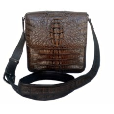 Мужская плечевая сумка из крокодиловой кожи
