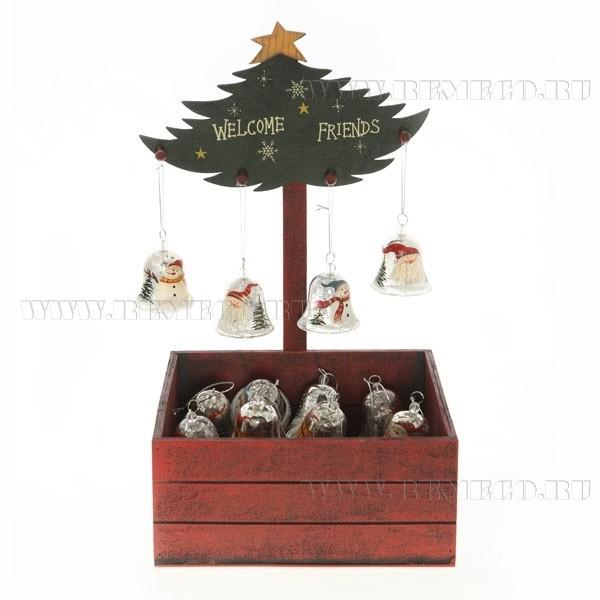 Новогоднее ёлочное украшение Колокольчик