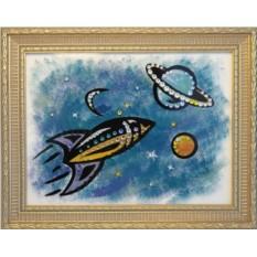 Картина с кристаллами Сваровски Космос