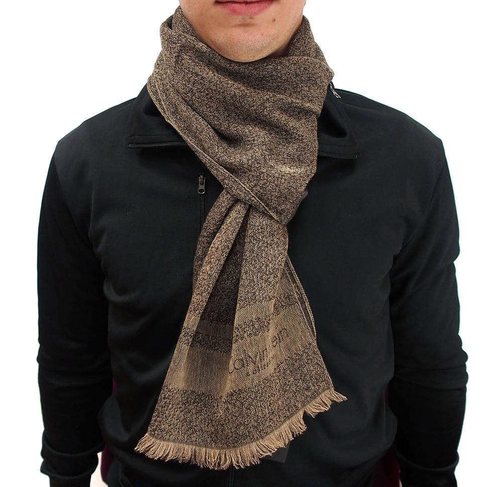 Мужской теплый шарф в коричневых тонах Calvin Klein