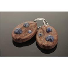 Серьги деревянные «Метеориты»