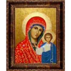 Икона с кристаллами Икона Казанской Божией Матери