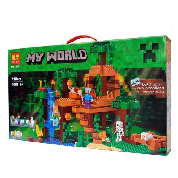 Конструктор Bela Minecraft Домик на дереве в джунглях