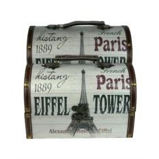 Набор из двух сундучков с надписью Paris