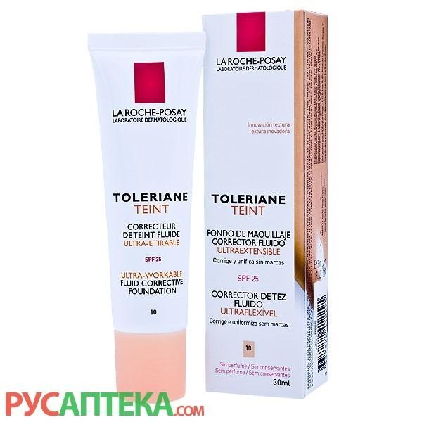 Тональный крем Ля Рош Позэ Toleriane Teint Fluid 10 тон