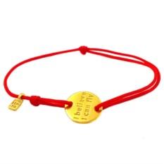 Золотой браслет на веревке I believe I can fly