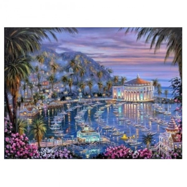 Картина-раскраска по номерам на холсте Остров Каталина