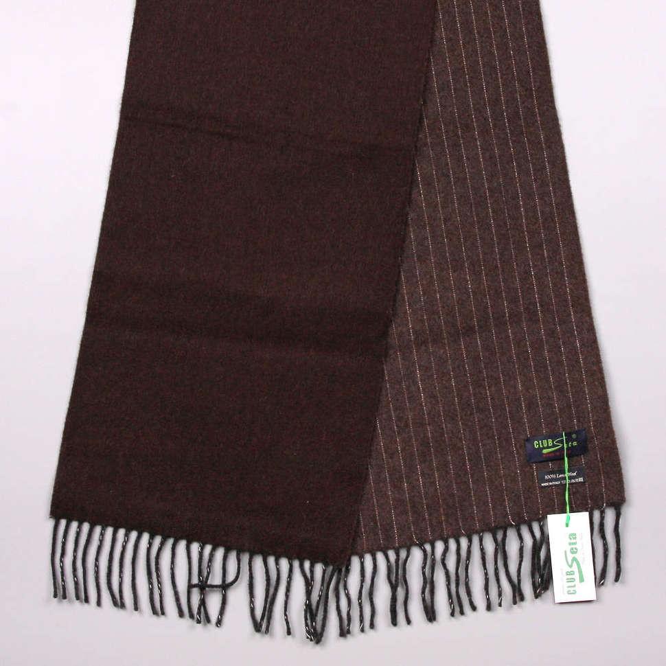 Двухсторонний шарф в коричневых тонах Club Seta