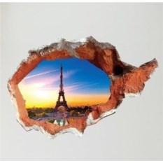 Виниловый 3D стикер В Париж