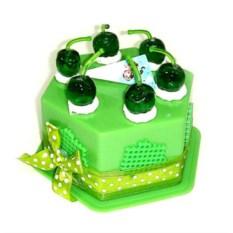 Копилка Торт зеленого цвета