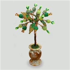 Миниатюрное дерево из оникса, нефрита и змеевика