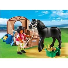 Конструктор Playmobil Черная лошадка и загон