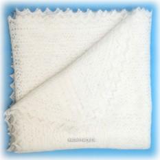 Оренбургский пуховый белый платок белый