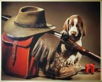 Картина Swarovski Сборы на охоту